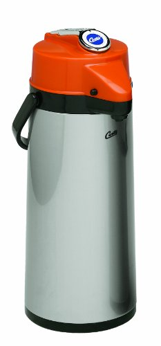 Wilbur Curtis Thermal Dispenser Air Pot, 2.2L S.S. Body Glass Liner Lever Pump, Decaf - Commercial Airpot Pourpot