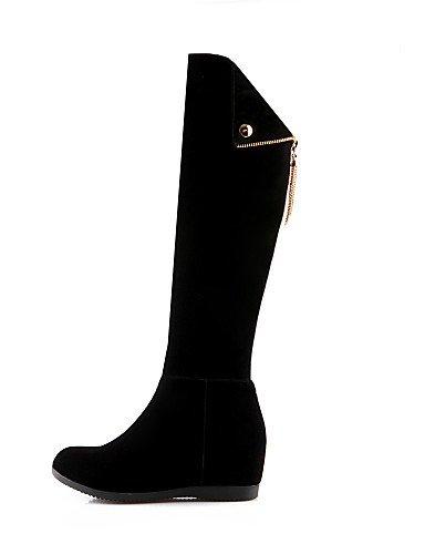 5 Cuñas Vellón Zapatos La Redonda Eu37 Uk4 Eu39 us8 5 us6 7 Casual Negro Punta Mujer De Moda Botas 5 Uk6 Cn39 Cuña Cn37 Tacón Black Vestido A Black Xzz gXvw6dqX
