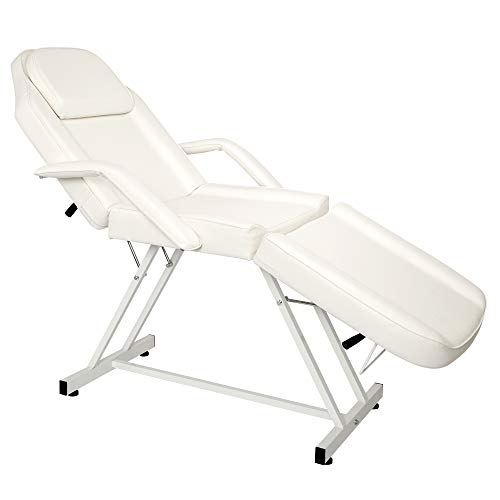Tattoo Chair Bed Message Salon Spa Table Max Weight Capacity 500lbs White