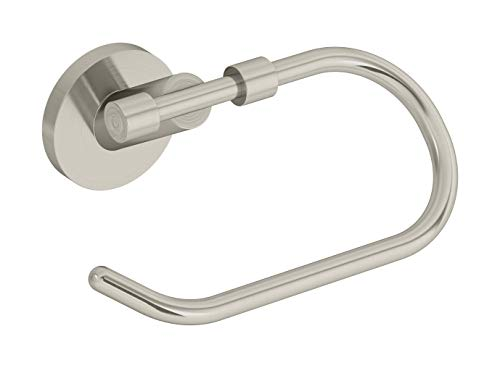 Symmons 433TP-STN Sereno Wall-Mounted Toilet Paper Holder with Cover in Satin Nickel ()