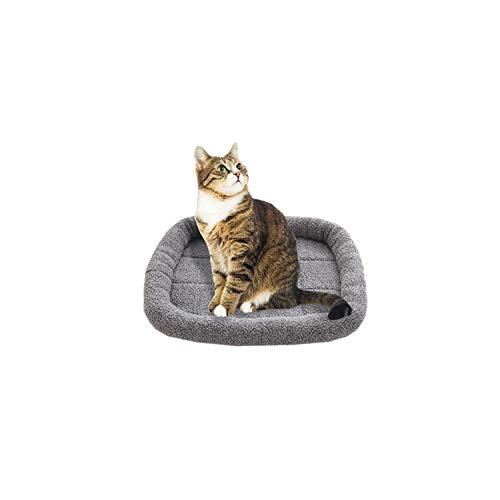 (Pet Dog Cat Cushion pet mats Soft Puppy Sleep Bed Kennel Warm Thick Blanket Matress for Small Medium Large Dogs Bed #40,Gray,L)