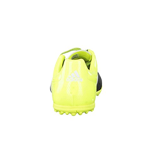 adidas ACE 15.3 TF J Leather - Botas para niño Negro / Blanco / Amarillo