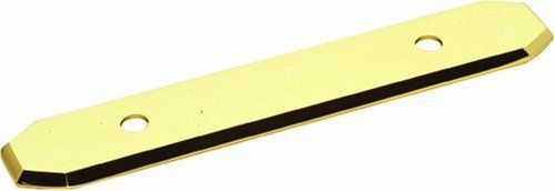 Hickory Hardware P370-UB 3-Inch Polished Accents Backplate, Ultra Brass ()
