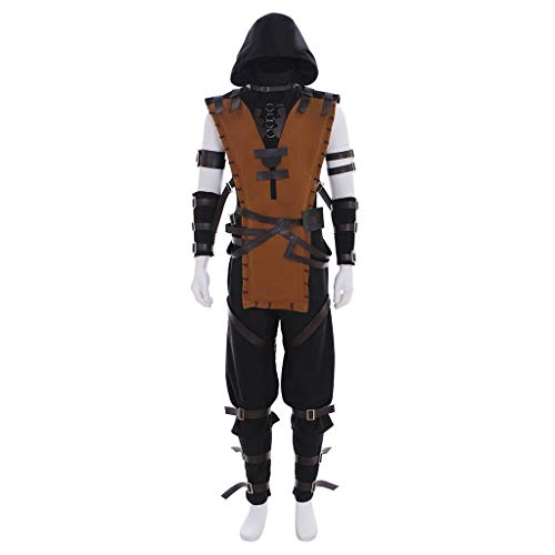 CosplayDiy Men's Suit for Mortal Kombat X Scorpion Cosplay Costume -