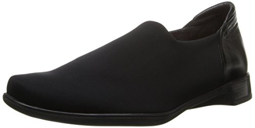 Naot Footwear Women's Noble Black Stretch/Black Midnight Leather Flat 38 (US Women's 7) M by Naot Footwear