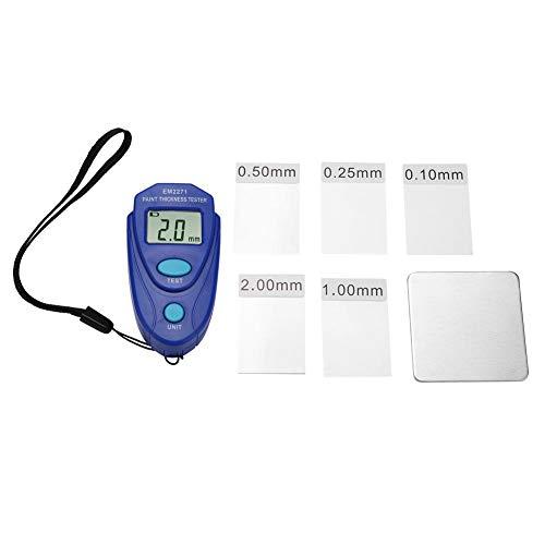 Probador de espesor de pintura, Automóvil Pantalla LCD digital portátil para automóvil Medidor de espesor de pintura...