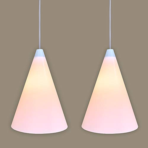Set of 2 lamp Shades with Magnetic Lock for Hanging Bulbs/Pendant Lamps