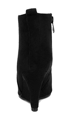 Fermeture Femme Couleur Zip Shoes Unie D'Orteil AgeeMi 4xBzqOwnz