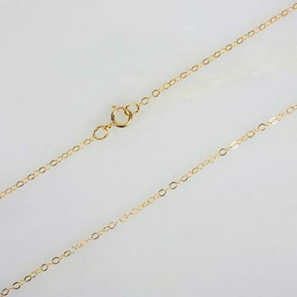 Cable Link Necklace 24K Gold Filled Necklace Gold Cable Link Chain Layering Necklace 1.5 mm 17.7 inch ready to wear chain