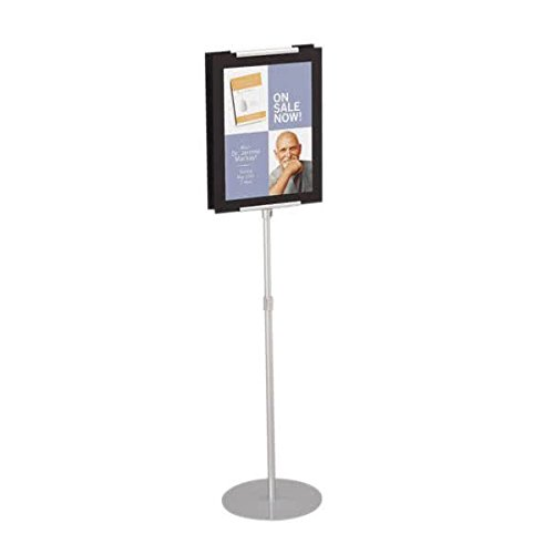 TableTop King 7923 44'' to 73'' Adjustable Silver Pedestal Stand with 8 1/2'' x 11'' Insert Space by TableTop King