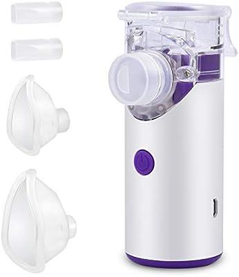 Nebulizador Inhalador Portátil, Recargable USB Kit Ultrasónico ...