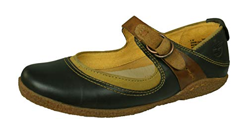 Timberland Bayden MJ Womens Leather Mary Jane Ballerina Shoes