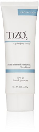 TIZO 2 Non-Tinted Facial Mineral Sunscreen SPF 40, 1.75 oz by Tizo