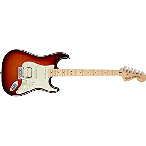 Fender 0147202352 Deluxe Stratocaster HSS Maple Fingerboard Electric Guitar – Tobacco Sunburst