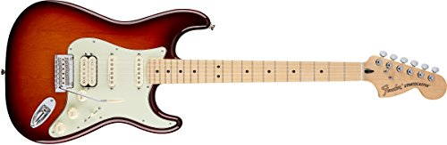 Fender Deluxe Stratocaster Electric Guitar HSS, Maple Fingerboard, Tobacco Sunburst by Fender