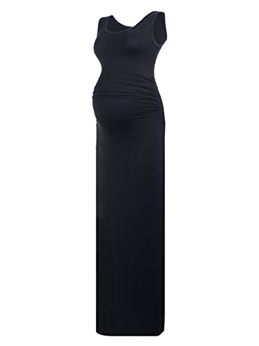 long black maternity maxi dress - 7