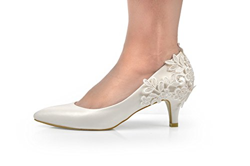 Maggie Boutique - Zapatos de vestir de Otra Piel para mujer Blanco crudo (Off white)