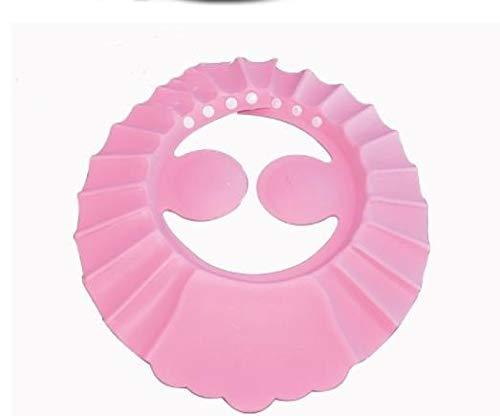Hot Sale!DEESEE(TM)Adjustable Baby Kids Shampoo Bath Bathing Shower Cap Hat Wash Hair Shield (Pink)
