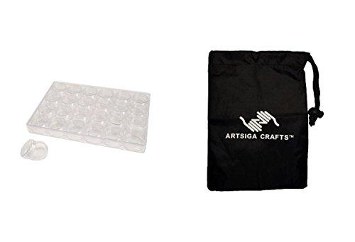 Darice Bead Storage Bead Container 9 1/2 x 6 3/8 x 1 1/8in. (12 Pack) 2025 251 bundled with 1 Artsiga Crafts Small Bag by Artsiga Crafts Bead Storage