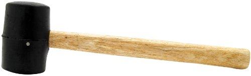 Performance Tool 1129 8oz Wood Handle Rubber Mallet, 8 oz