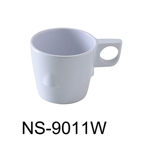 (Yanco NS-9011W Coupe Pattern Coffee/Tea Cup, 8 oz Capacity, 3