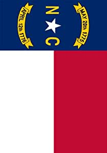 North Carolina State Flag - State Flag - Double Sided Garden Size Decorative Flag 12 X 18 Inches
