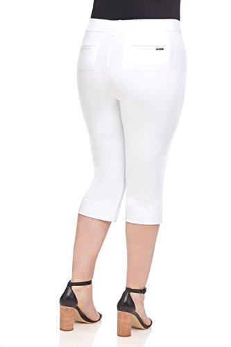 Rekucci Curvy Woman Ease into Comfort Plus Size Capri w/Tummy Control
