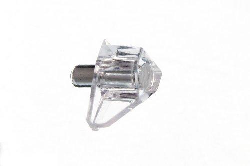 Buch-Kasten Peg Einschub Clear Plastic Peg Metall- Pin Stud 5mm ( Packung mit 24) onestopdiy.com