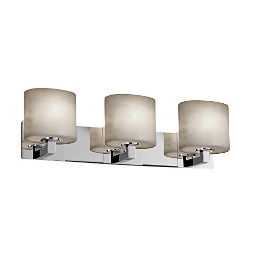 (Justice Design Group Clouds 3-Light Bath Bar - Polished Chrome Finish with Clouds Resin Shade)