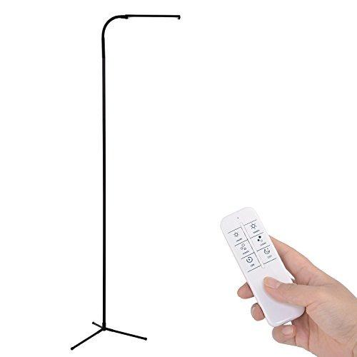 Beau Kihung Remote Control Dimmable LED Floor Lamp, 120 Level Adjustments,  3000 6000K, 6W 500 Lumens Brightness, Black