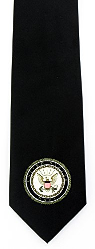 - Men's United States US Navy Seal Emblem Military Necktie Tie (Black)