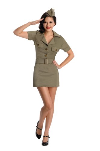 Secret Wishes 40s G.I. Girl, Army Green, Large]()