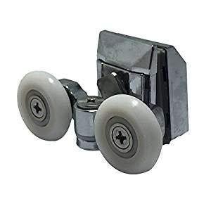 in lega di zinco 2 rulli per porta della doccia diametro ruota 20 mm