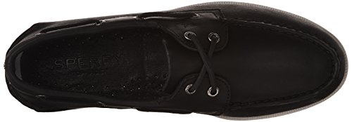 Boat O Sperry Sider Black White Shoe Top Black Mens A AXHCZwq
