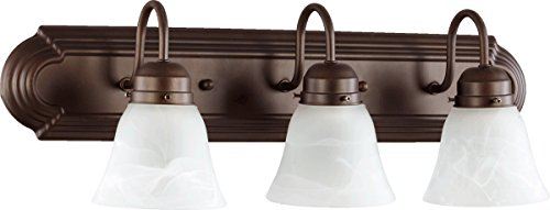 Oiled Bronze Three Light Bath - 4