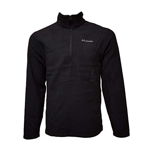 Pullover Jacket Half Zip (Columbia Fleece Half Zip Pullover - Small - Black)
