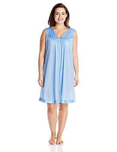 ss V-neck Sleepwear Gown PURITY BLUE X-Large ()