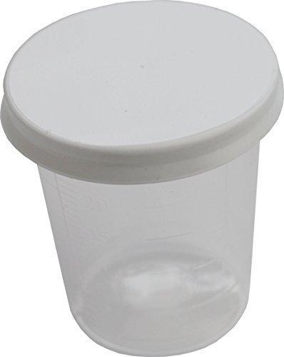 80 Stück Medikamentenbecher + 80 Deckel Medizinbecher Medi-Inn Farbe:transparent Medi-Inn