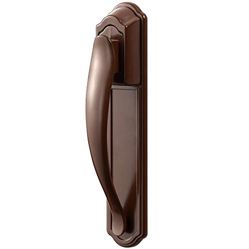 (Ideal Security SKDXB DX Pull Handle Set for Storm and Screen Doors Easy Upgrade, Brown)