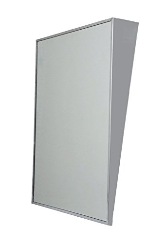 Meek Mirrors AMZ4410 Ada Stainless Steel Fixed Tilt Framed Bathroom Mirror, Satin Finish, 36