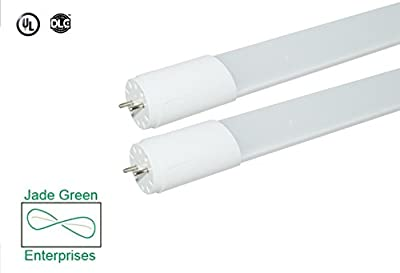 2 Foot T8 LED Tube Light 9W , 3000K (Warm) and 5000K (Daylight), 1080 Lumens (120 Lm/W), Single End Power, UL Listed, DLC Listed