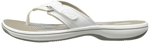 CLARKS Women's Breeze Sea Flip Flop, New White Synthetic, 9 M US by CLARKS (Image #5)