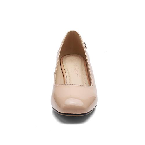 Structured BalaMasa Pumps Womens APL10911 Solid Casual Shoes Urethane Beige Cwqfz