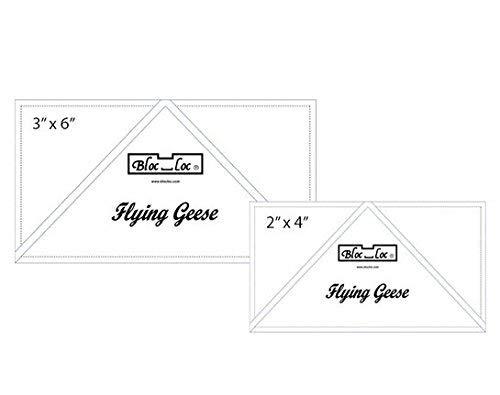 Bloc Loc Flying Geese Ruler Set 3~2''x 4'', 3''x 6'' by Bloc Loc
