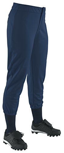 Wilson Women's (Low-Rise) Heavyweight Poly Warp Knit Softball Pant, Navy, - Poly Warp Pants Heavyweight Knit