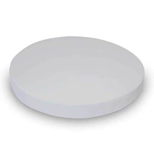 (SheetWorld 100% Cotton Jersey Round Crib Sheet, Silver Grey, 42 x 42, Made In USA)