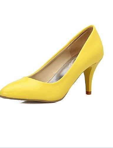 XZZ  Damen-Stiefel-Kleid   Lässig     Party & Festivität-PU-Kitten Heel-Absatz-Absätze-Blau   Gelb B01KPZWJH6 Sport- & Outdoorschuhe Gewinnen Sie das Lob der Kunden 73398d