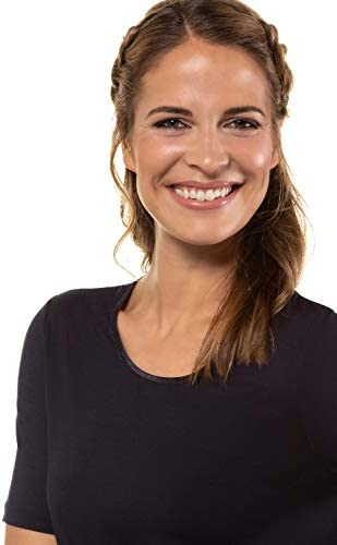 Gina Laura 100928 koszulka damska, super stretch, rozmiar S-XXXL, okrągłe wycięcie pod szyją, satynowa lamÓwka: Gina Laura: Odzież