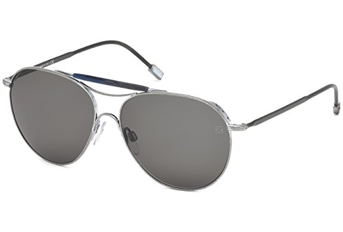 Ermenegildo Zegna ZC0021 17A Silver Aviator Sunglasses for - Couture Zegna