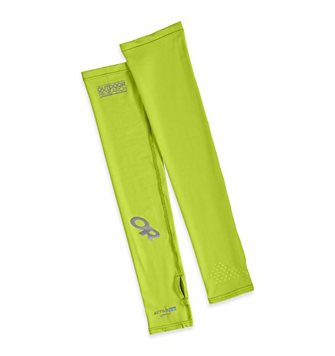 Outdoor Research ActiveIce Sun Sleeves, Lemongrass, Large/X-Large